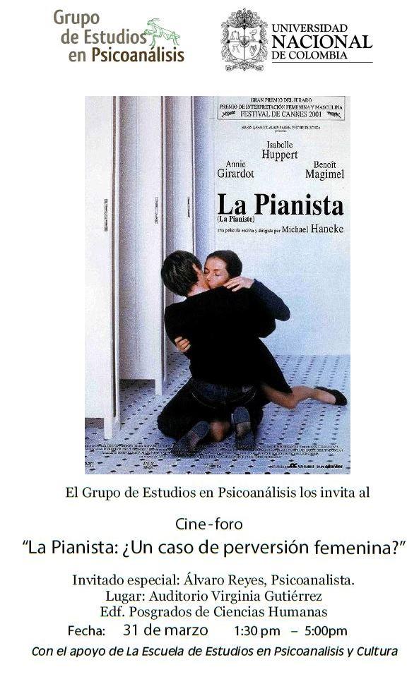 CINE FORO: La pianista ¿Un caso de perversiónfemenina?